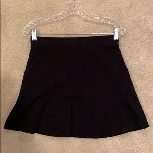 Black cotton mini skirt